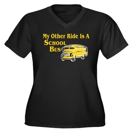 My other Ride Is A School Bus Women's Plus Size V-