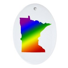 Minnesota Gay Pride Oval Ornament