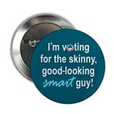 "Skinny smart guy 2.25"" Button"