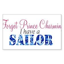 Forget Prince Charming, I hav Rectangle Sticker 1