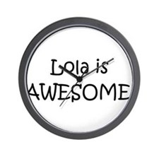 Unique Love lola Wall Clock