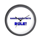 Naval Architects Rule! Wall Clock
