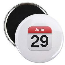 "Apple iPhone Calendar June 29 2.25"" Magnet (10 pac"