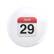 """Apple iPhone Calendar June 29 3.5"""" Button (100 pac"""