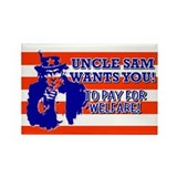 Rectangle Magnet-Uncle Sam Welfare