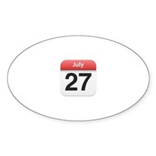 Apple iPhone Calendar July 27 Oval Decal