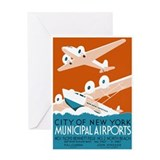 NY City Municipal Airports Greeting Card