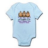 See Speak Hear No Alzheimers 2 Onesie