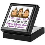 See Speak Hear No Alzheimers 2 Keepsake Box