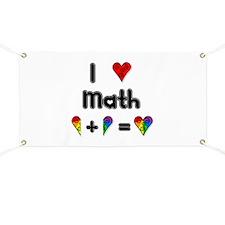 I Love Math Banner