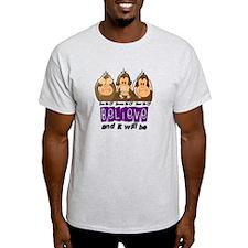 See Speak Hear No Cystic Fibrosis Shirt T-Shirt