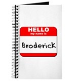 Hello my name is Broderick Journal