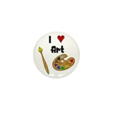 I Love Art Mini Button (10 pack)