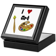 I Love Art Keepsake Box
