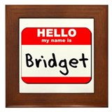 Hello my name is Bridget Framed Tile