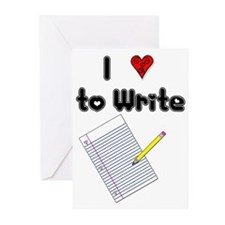 I Love to Write Greeting Cards (Pk of 10)