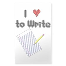 I Love to Write Rectangle Sticker 10 pk)