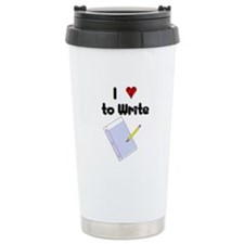 I Love to Write Ceramic Travel Mug