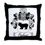 Paulucci Family Crest Throw Pillow