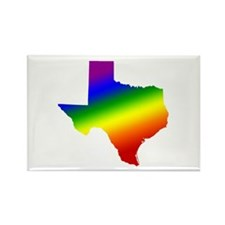 Texas Gay Pride Rectangle Magnet