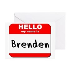 Hello my name is Brenden Greeting Cards (Pk of 20)