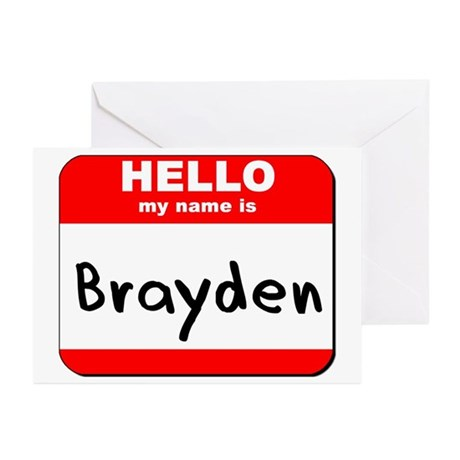 Hello my name is Brayden Greeting Cards (Pk of 10)