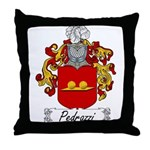 Pedrazzi Family Crest Throw Pillow