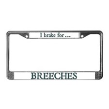 Breeches License Plate Frame