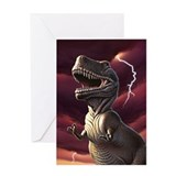 Lightning Rex 3 Greeting Card