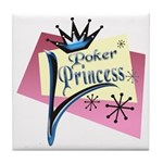 Poker Princess Tile Coaster