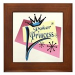 Poker Princess Framed Tile