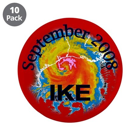 "Hurricane Ike 3.5"" Button (10 pack)"