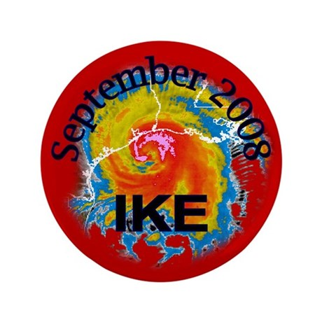 "Hurricane Ike 3.5"" Button"