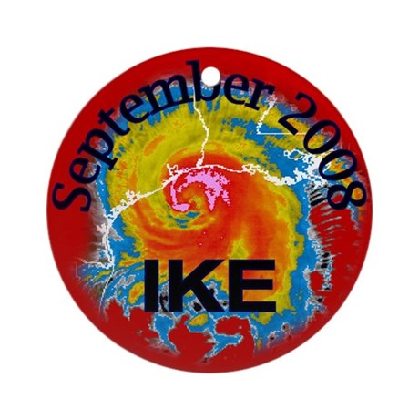 Hurricane Ike Ornament (Round)