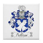 Pellicani Family Crest Tile Coaster