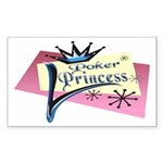 Poker Princess Rectangle Sticker