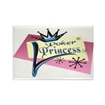 Poker Princess Rectangle Magnet