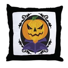 Count Pumpkin Throw Pillow