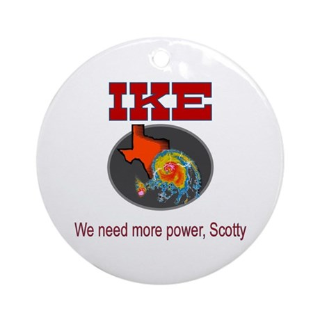 More power Scotty Hurricane Ike Ornament (Round)
