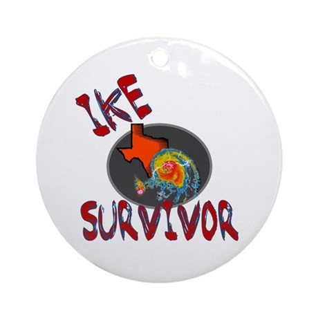 I survived Hurricane Ike Ornament (Round)