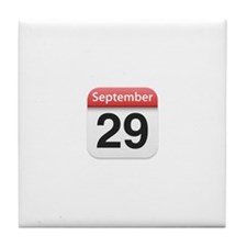 Apple iPhone Calendar September 29 Tile Coaster