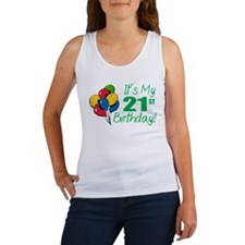 It's My 21st Birthday (Balloons) Women's Tank Top