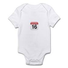Apple iPhone Calendar September 16 Infant Bodysuit