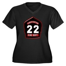 FD22 Women's Plus Size V-Neck Dark T-Shirt