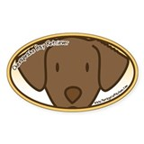 Anime Chesapeake Bay Retriever Oval Decal