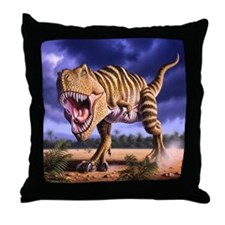 Brown Rex 1 Throw Pillow