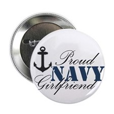 "Navy Girlfriend 2.25"" Button"