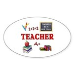 Teachers Do It With Class Sticker (Oval 50 pk)