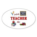 Teachers Do It With Class Sticker (Oval 10 pk)