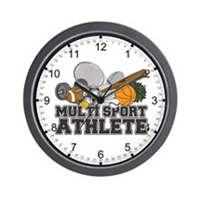 Multi-Sport Athlete Wall Clock